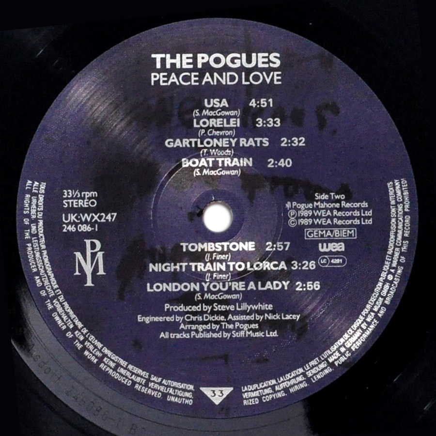 The Pogues Peace And Love At Theballadeers