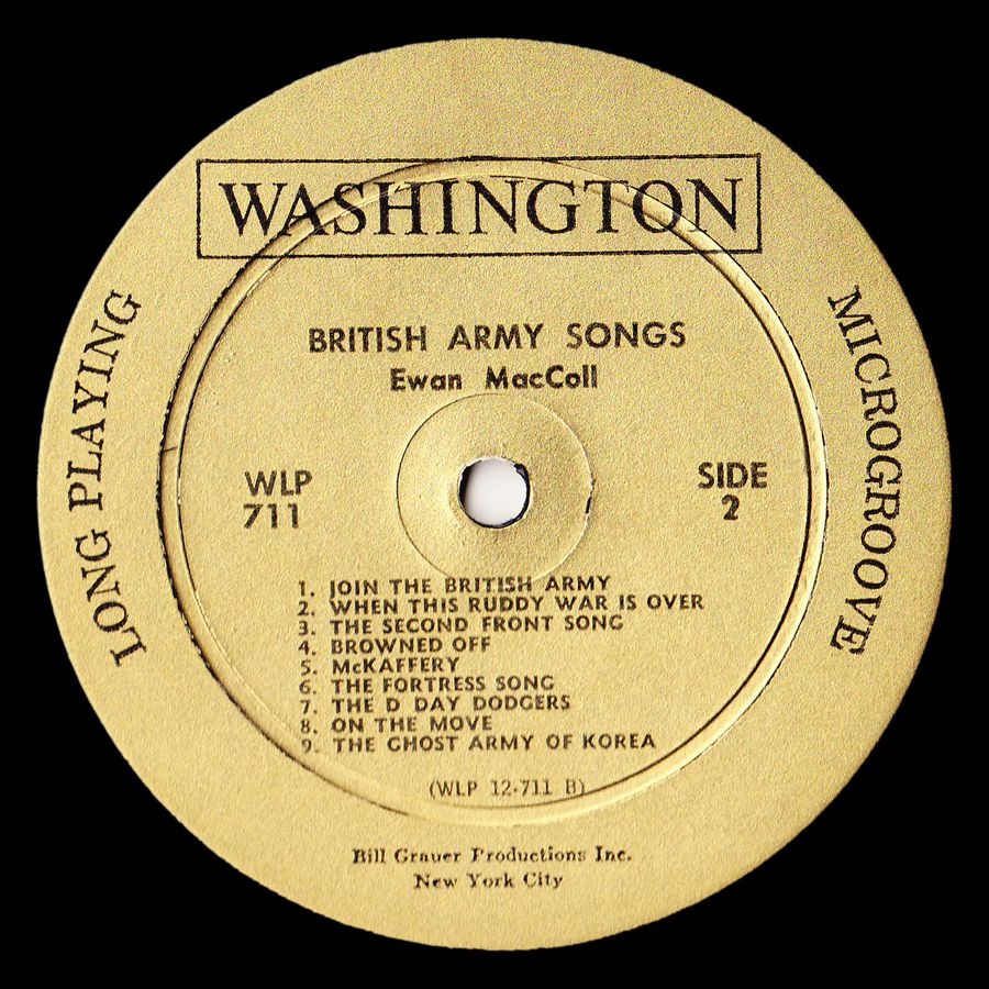 Bless 'Em All and other British Army Songs: Ewan MacColl at